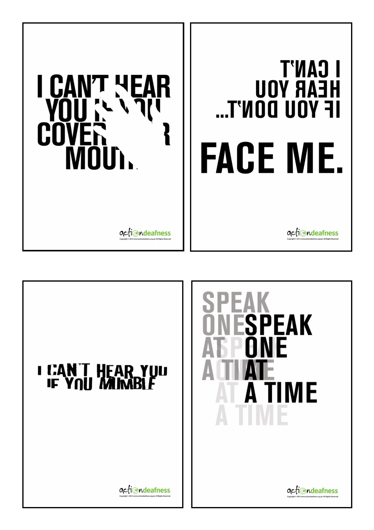 ActionDeafness Posters